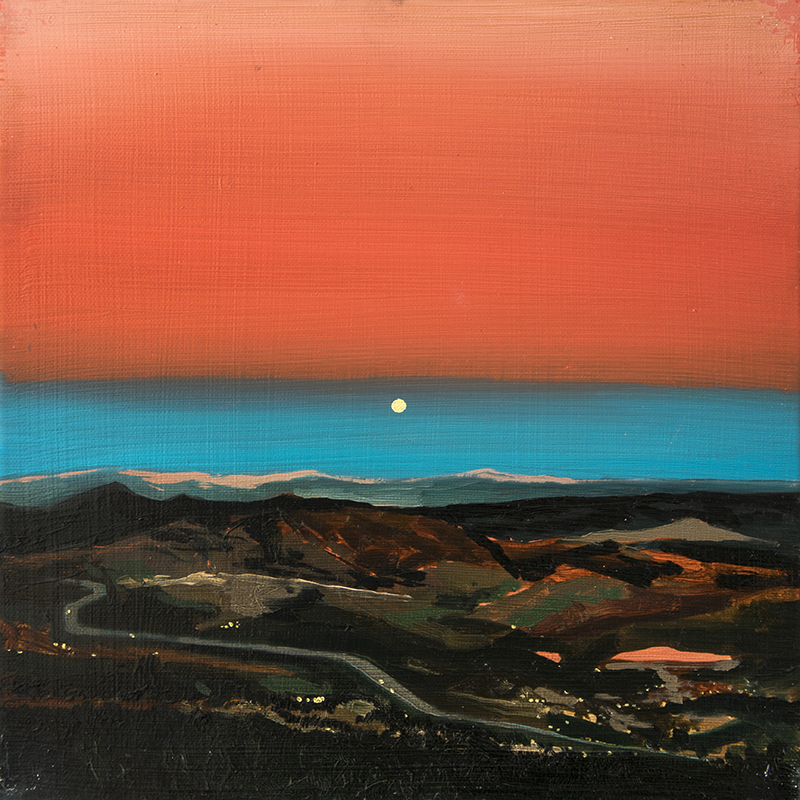 A SUNRISE OVER A VALLEY, 2016 oil on canvas, 30 x 30 cm