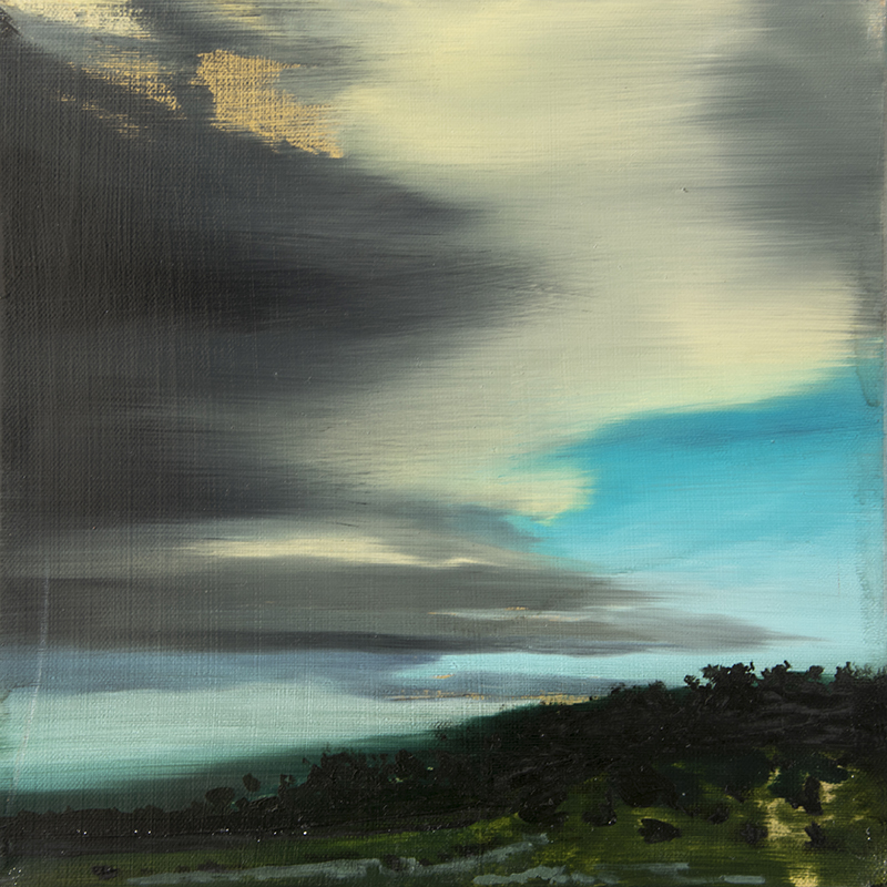 A BLURRED SKY, 2016 oil on canvas, 30 x 30 cm