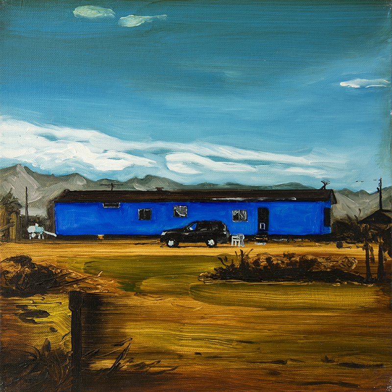 A NATIVE AMERICAN HOME, 2016 oil on canvas, 30 x 30 cm