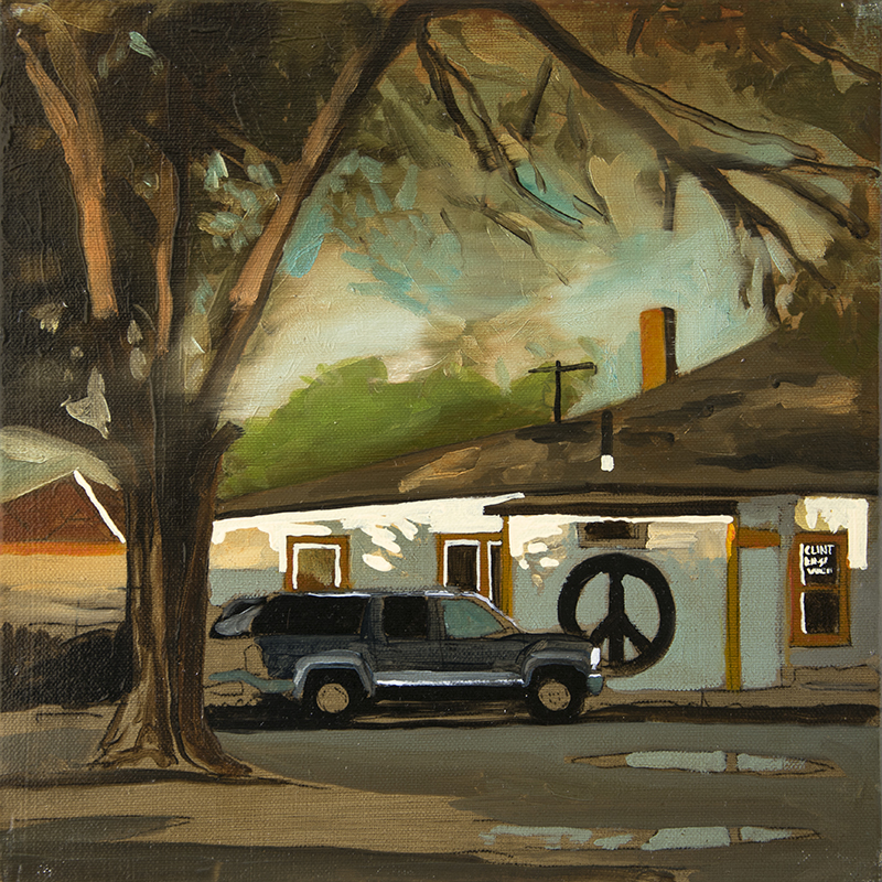 A HOUSE IN SELIGMAN, 2016 oil on canvas, 30 x 30 cm