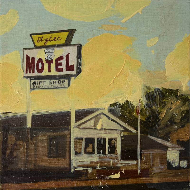 A MOTEL CANTEEN, 2016 oil on canvas, 30 x 30 cm