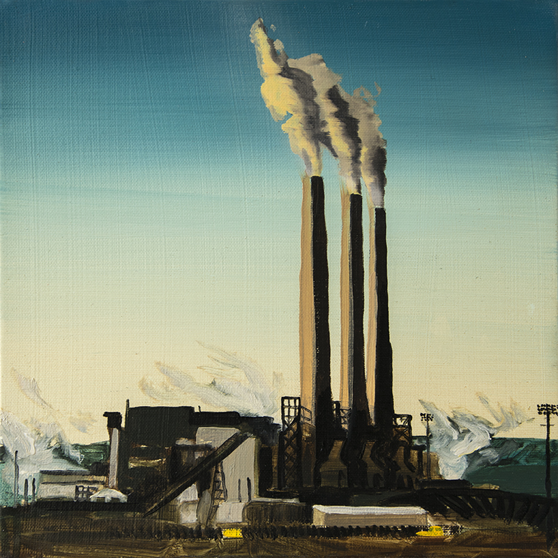 A FACTORY IN PAGE, 2016 oil on canvas, 30 x 30 cm
