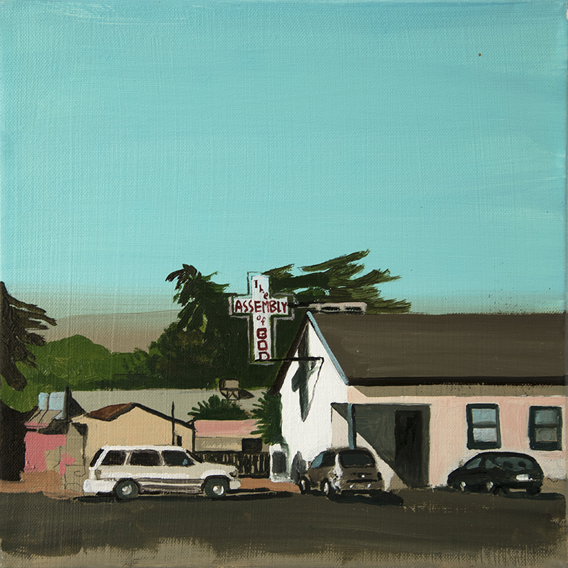 A CHURCH IN PAGE, 2016 oil on canvas, 30 x 30 cm